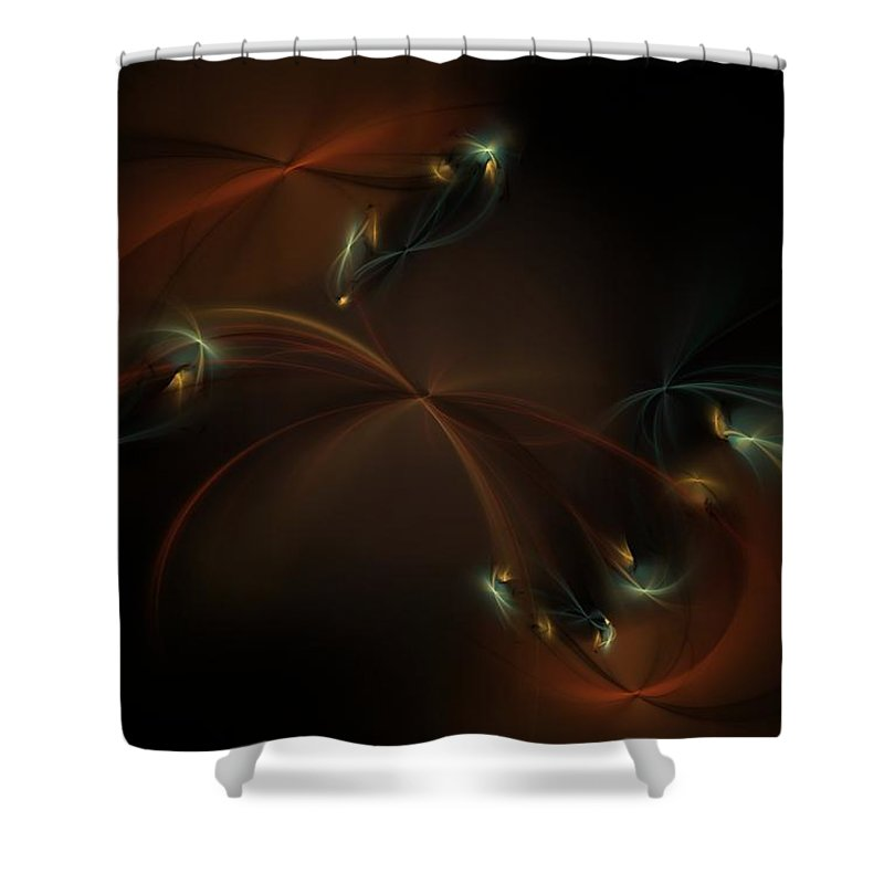 Fantasy Shower Curtain featuring the digital art Fairy Circle by David Lane