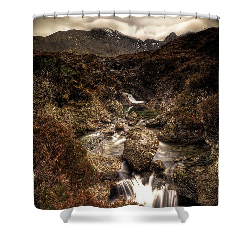 Mountain Shower Curtain featuring the photograph Fairy Pools by Roddy Atkinson
