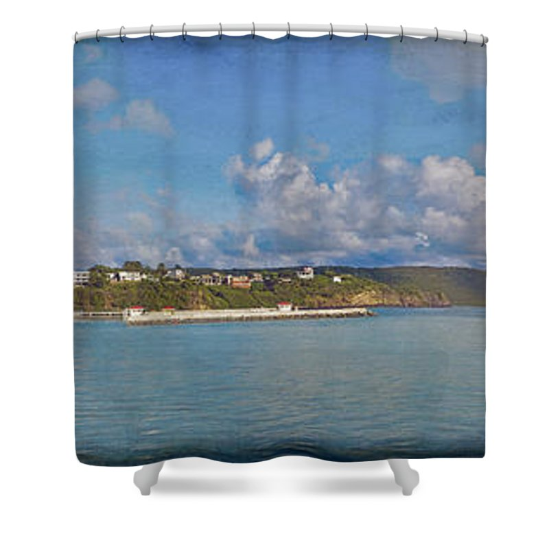Fajardo Shower Curtain featuring the photograph Fajardo Ferry Service To Culebra And Vieques Panorama by David Zanzinger