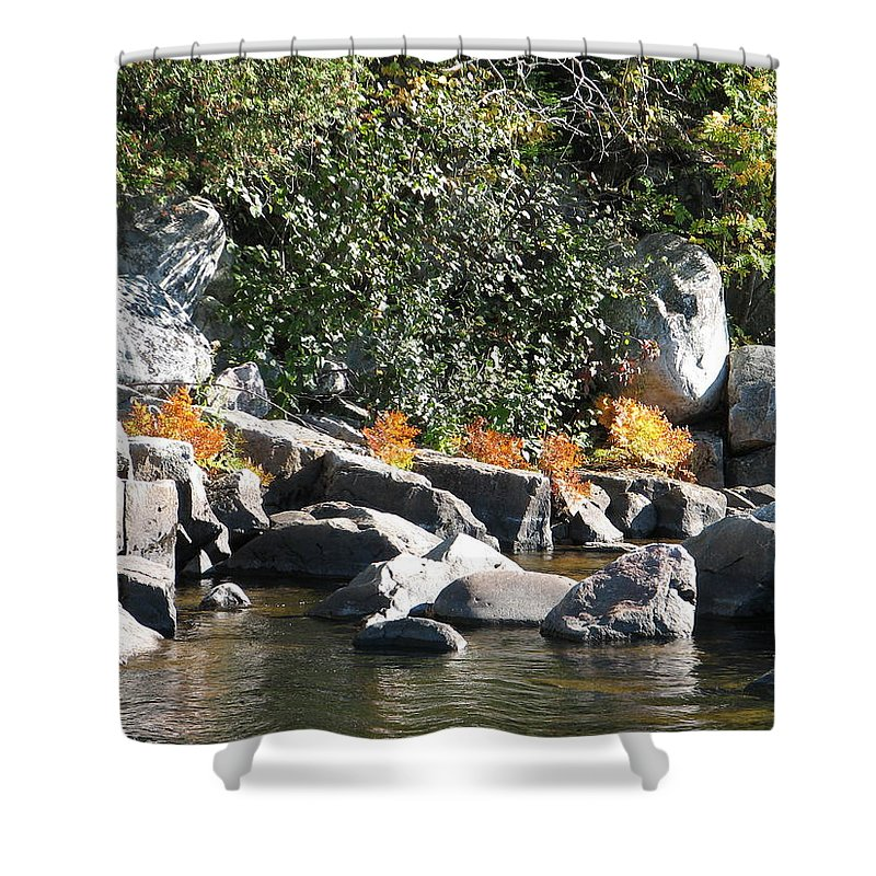Creek Shower Curtain featuring the photograph Fall At The Creek by Kelly Mezzapelle