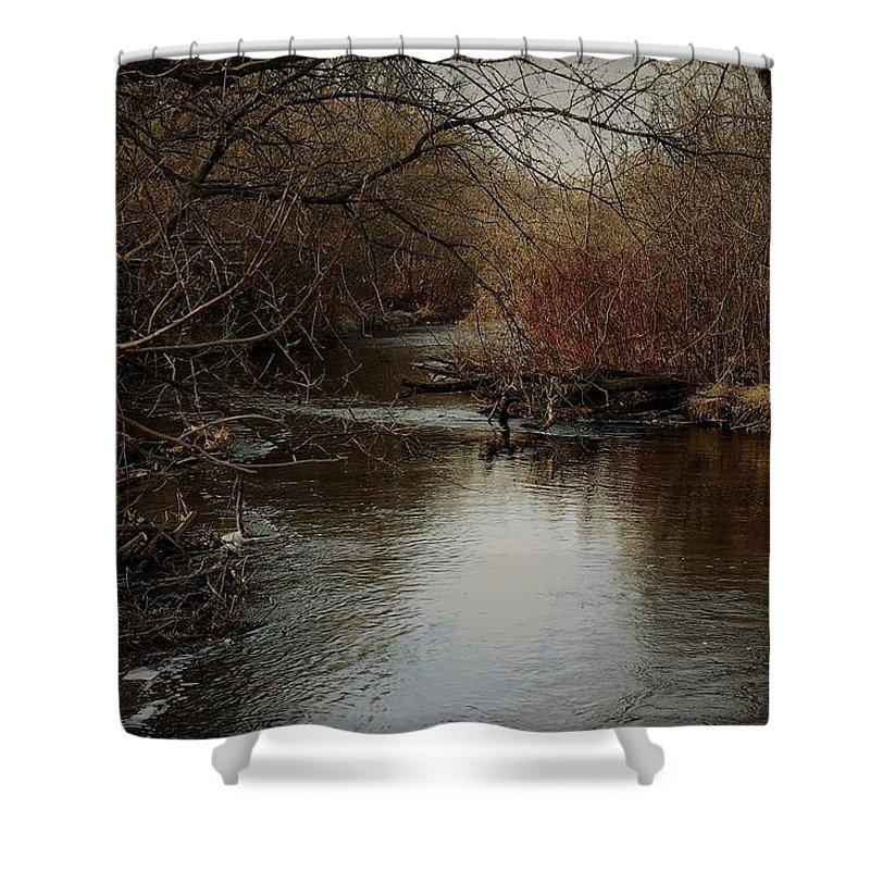 Fall Shower Curtain featuring the photograph Fall Calm by Melissa Haney