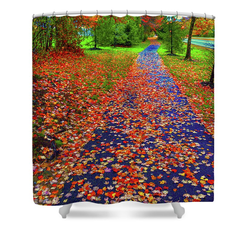 Fall Colors Shower Curtain featuring the photograph Fall Colors 2014-#15 by Srinivasan Venkatarajan
