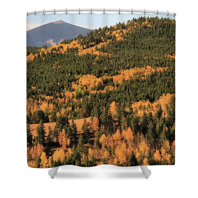 Fall Colors At Rocky Mountain National Park Shower Curtain featuring the photograph Fall Colors At Rocky Mountain National Park by Dan Sproul