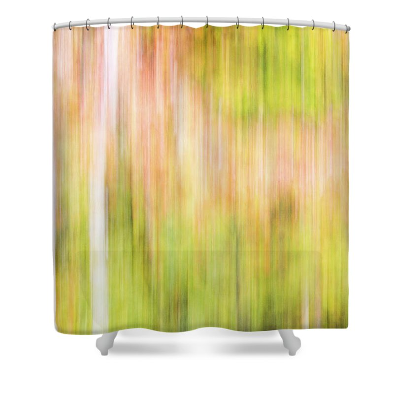 Abstract Shower Curtain featuring the photograph Fall Colours Abstract, Oxtongue River, Algonquin Highlands by Eric Drumm