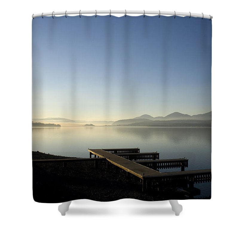 Landscape Shower Curtain featuring the photograph Fall Evening by Lee Santa