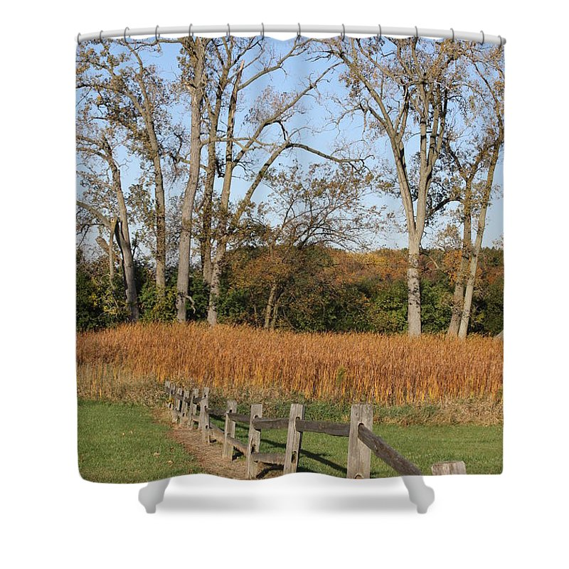 Fence Shower Curtain featuring the photograph Fall Fence by Lauri Novak