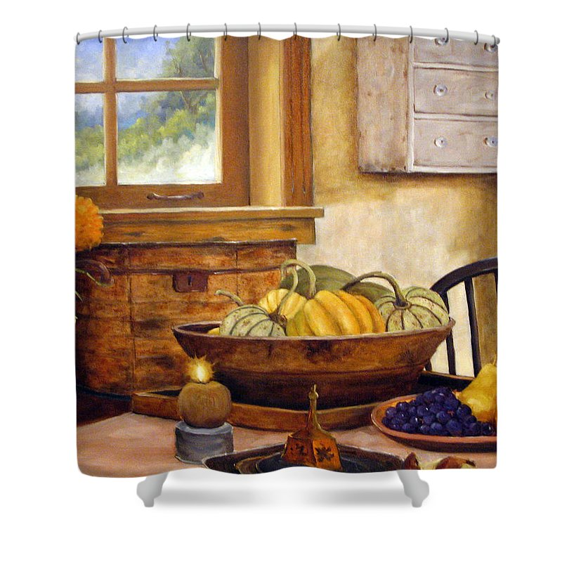 Fall Shower Curtain featuring the painting Fall Harvest by Richard T Pranke