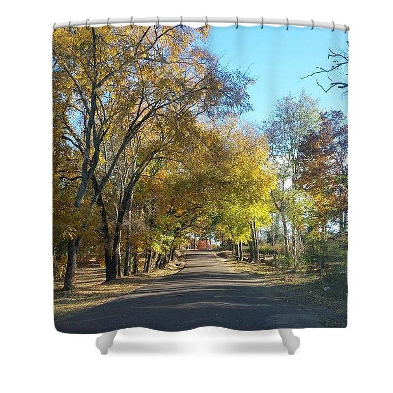 Landscape In East Texas (fall) Shower Curtain featuring the photograph Fall In East Texas by Brandon Fleet