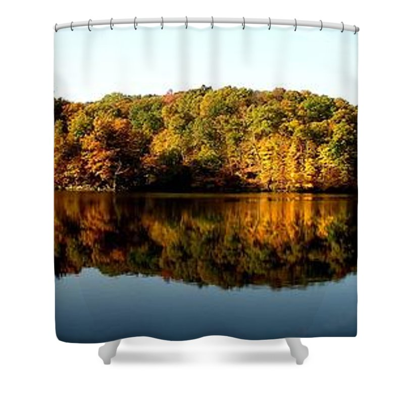 Fall Shower Curtain featuring the photograph Fall In Indiana by Carol Milisen