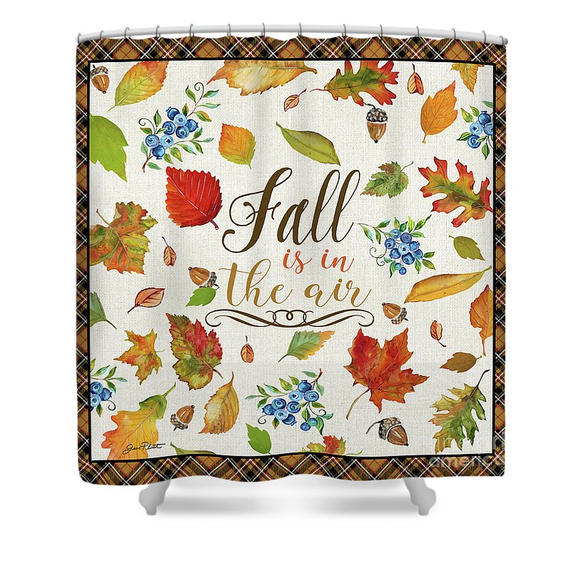 Fall Shower Curtain featuring the painting Fall Is In The Air by Jean Plout