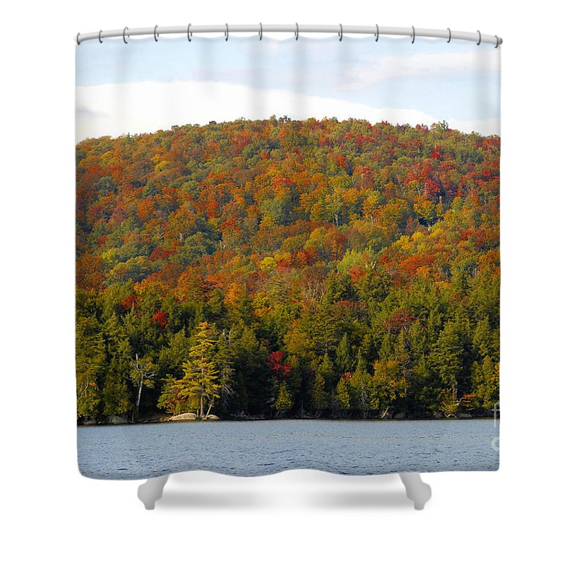 Fall Shower Curtain featuring the photograph Fall Island by David Lee Thompson