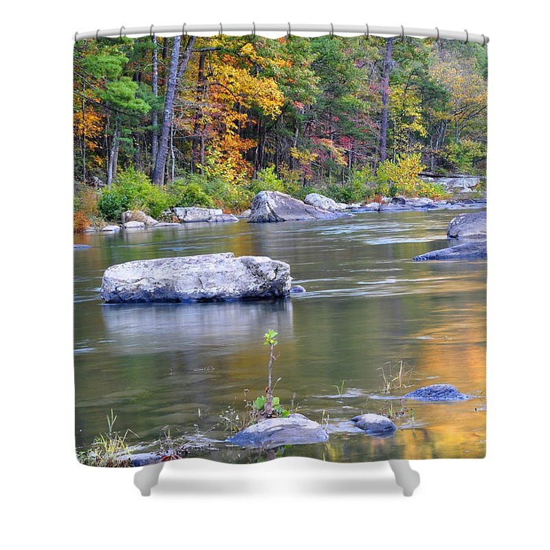 Maury River Shower Curtain featuring the photograph Fall On The Maury by Todd Hostetter