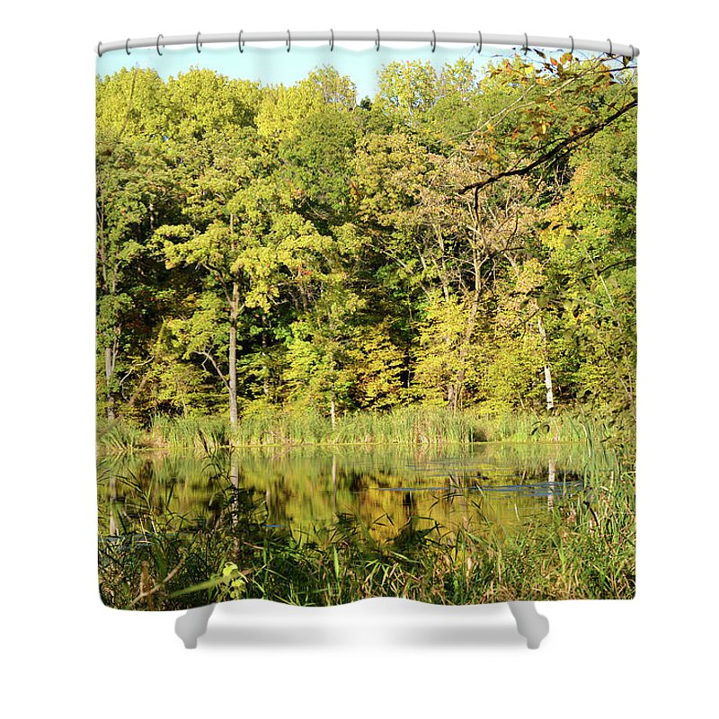 Reflections Shower Curtain featuring the photograph Fall Reflections by Melissa Hartner