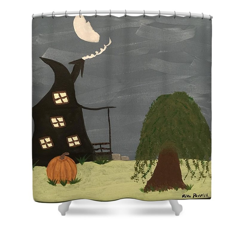 Fall Shower Curtain featuring the painting Fall by Rita Parrish