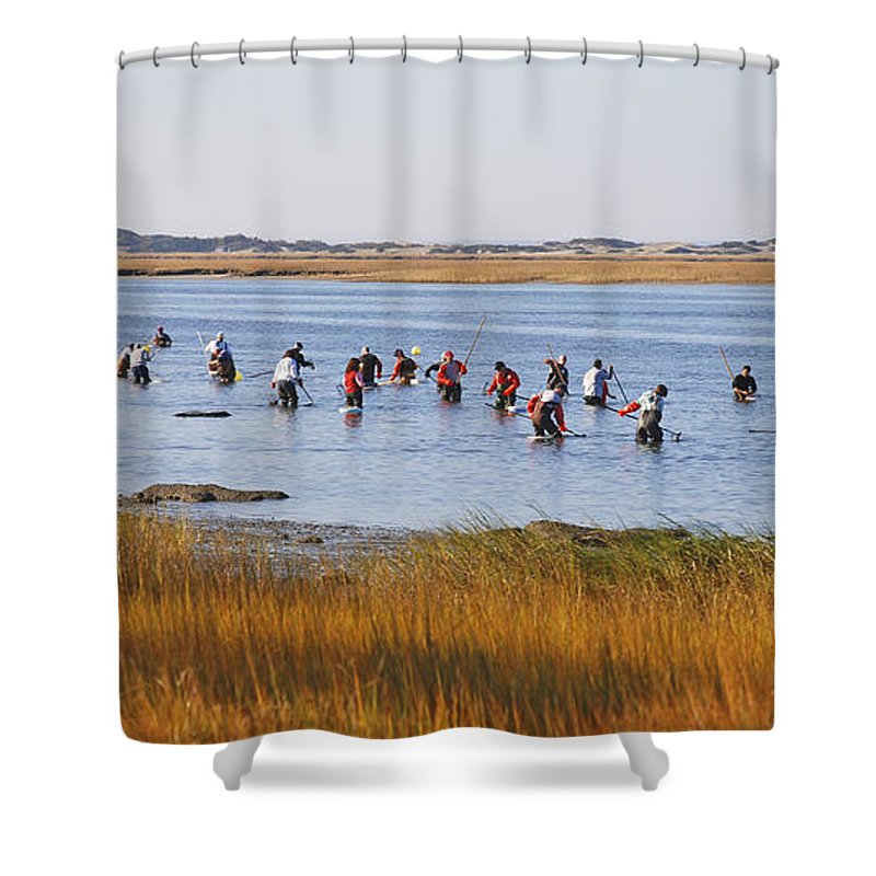 Barnstable Shower Curtain featuring the photograph Fall Shellfishing by Charles Harden