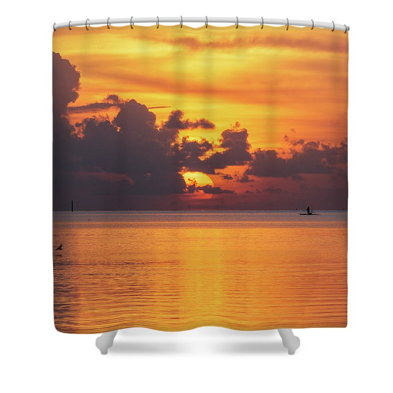 Autumn Shower Curtain featuring the photograph Fall Sunrise by Claudia Domenig