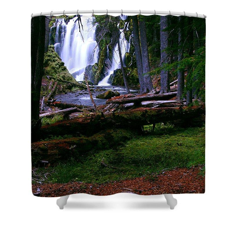 Waterfall Shower Curtain featuring the photograph Fall Through by Peter Piatt