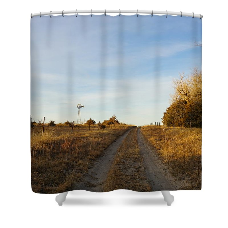 Shower Curtain featuring the photograph Fall Time On Old Trail by Kyle Mock