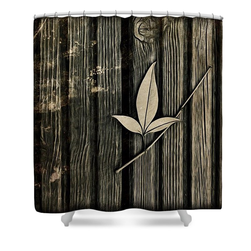 Icolorama Shower Curtain featuring the photograph Fallen Leaf by John Edwards