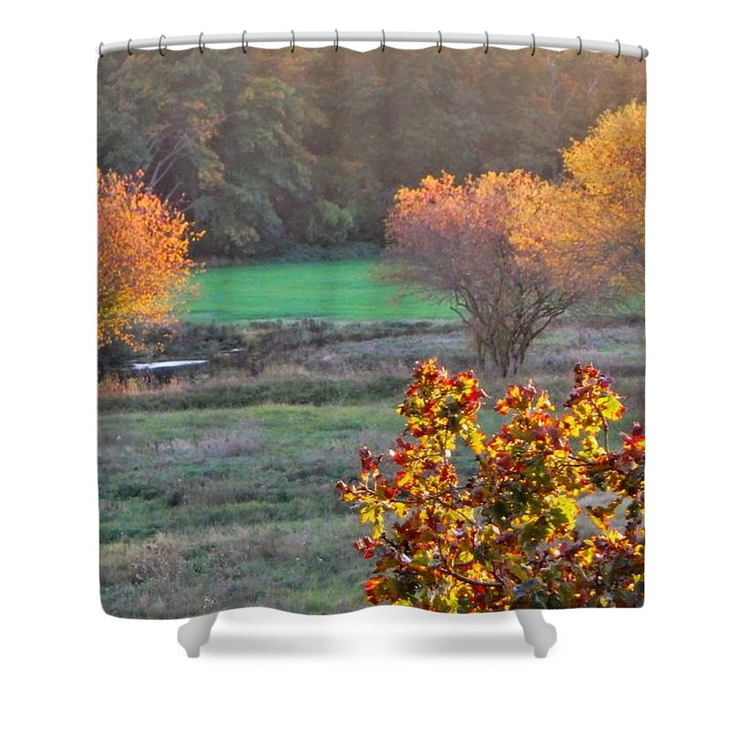 Art Shower Curtain featuring the photograph A Fall Day. by Marty Borsboom