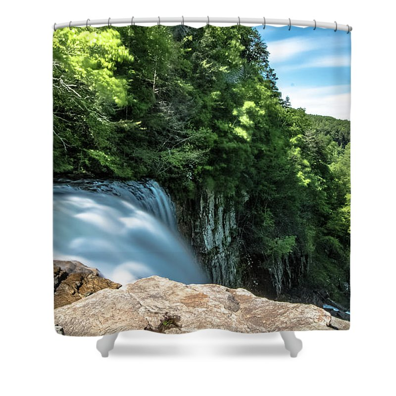 Long Exposure Shower Curtain featuring the photograph Falling by Mike Dunn