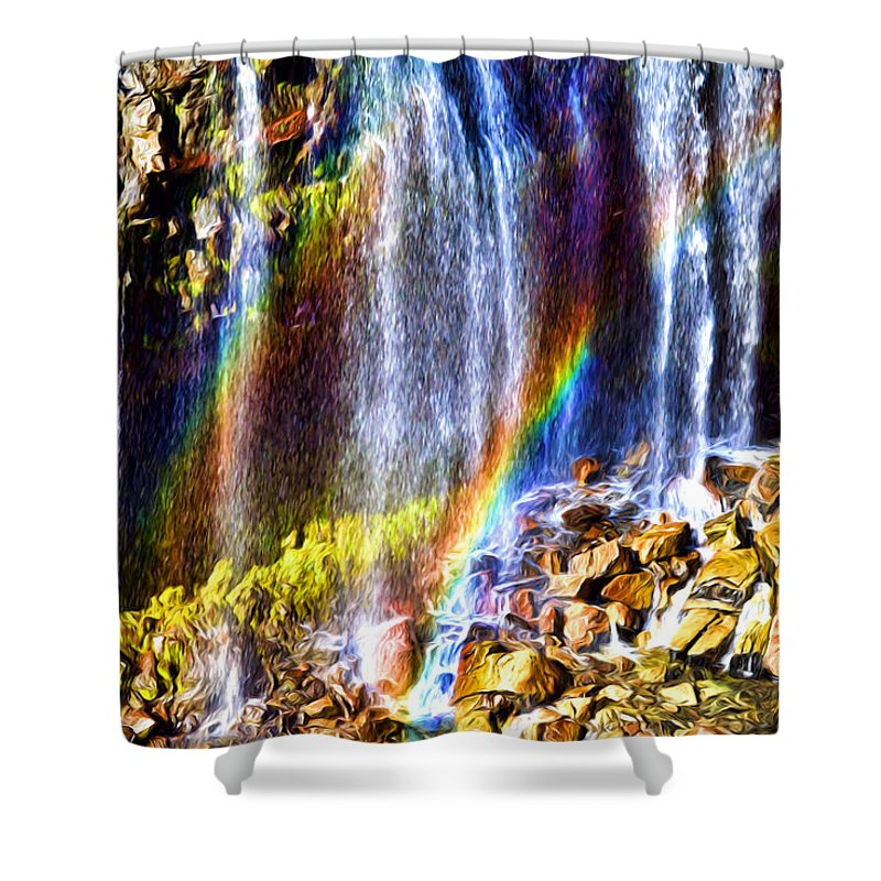Mount Rainier Shower Curtain featuring the photograph Falling Rainbows by Anthony Baatz