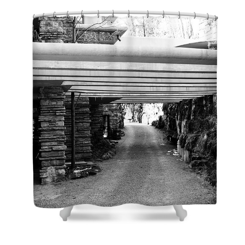 Fallingwater Shower Curtain featuring the photograph Fallingwater Driveway by Shelley Smith