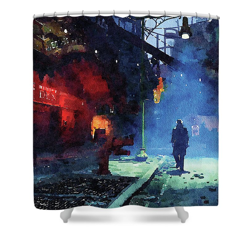 Fallout Shower Curtain Featuring The Digital Art