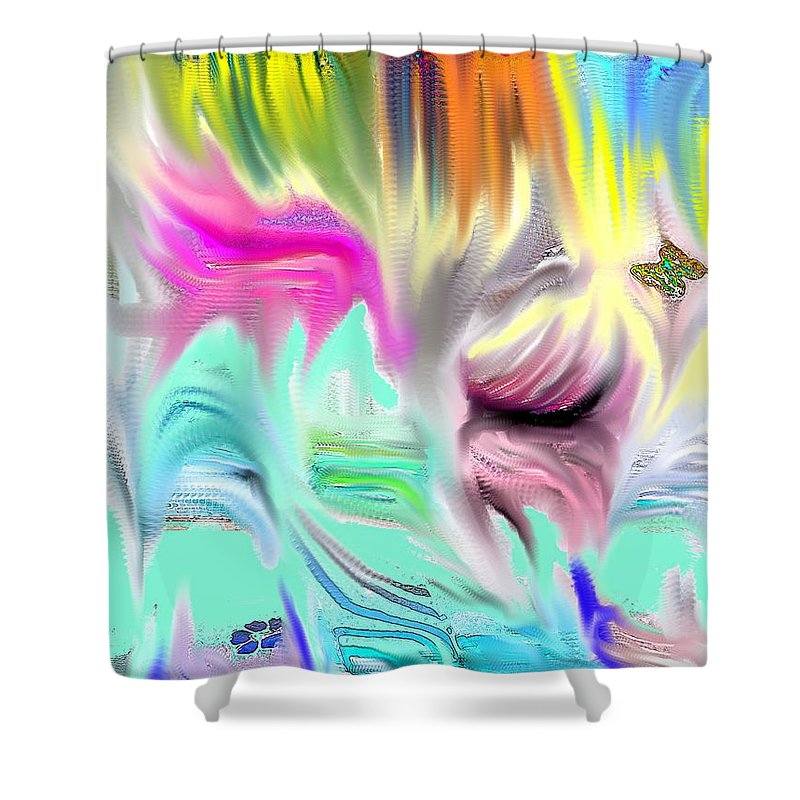 Abstract Shower Curtain featuring the photograph Falls and Walls by Ian MacDonald
