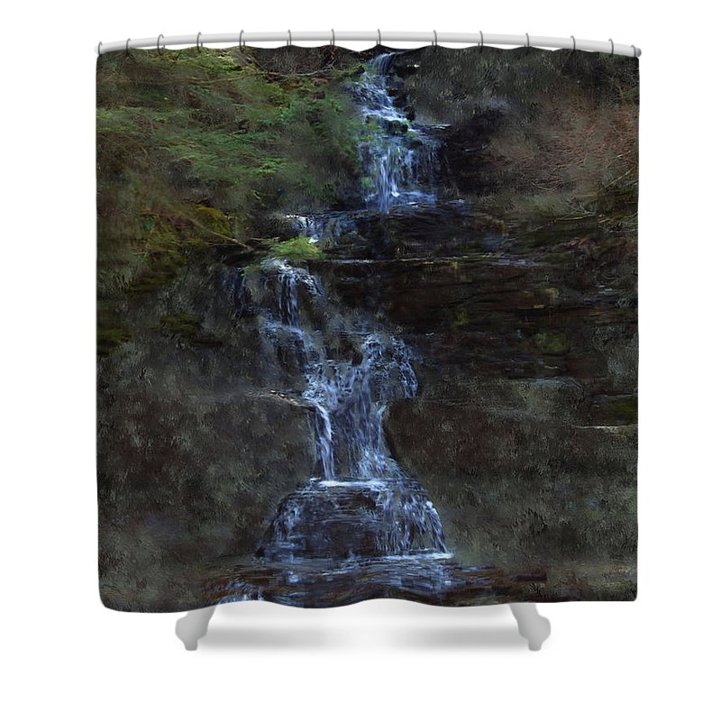 Shower Curtain featuring the photograph Falls At 6 Mile Creek Ithaca N.y. by David Lane
