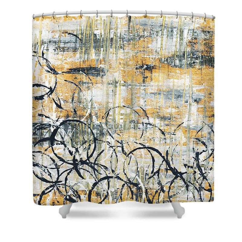 Painting Shower Curtain featuring the painting Falls Design 3 by Megan Duncanson