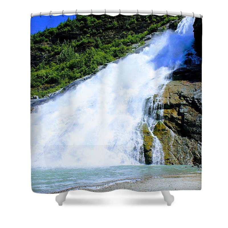 Shower Curtain featuring the photograph Falls by Jack Ecke