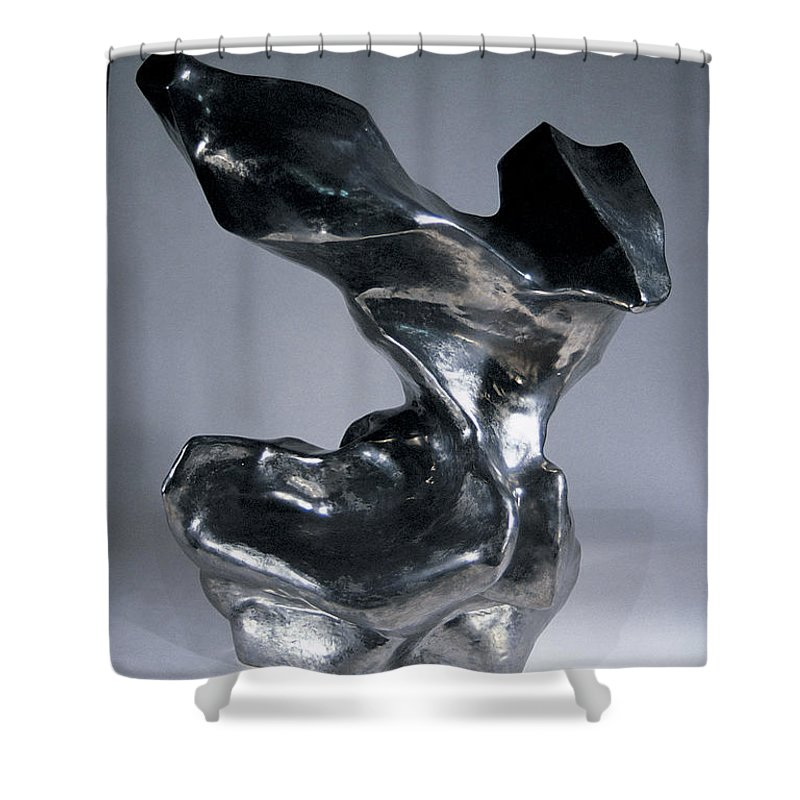 Sculpture Shower Curtain featuring the sculpture Fame by Jason Messinger