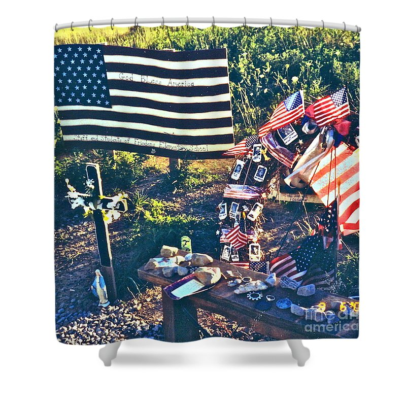Flight 93 National Memorial Shower Curtain featuring the photograph Families Remember by Penny Neimiller