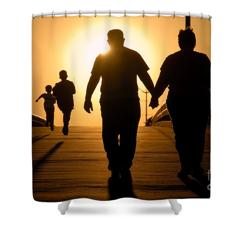 Family Shower Curtain featuring the photograph Family by David Lee Thompson
