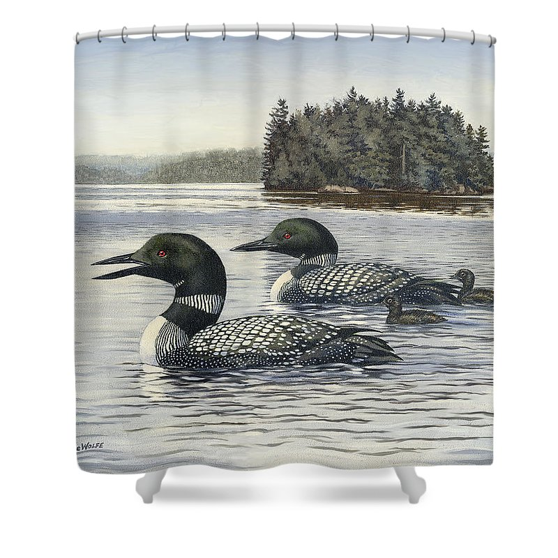 Common Loon Shower Curtains