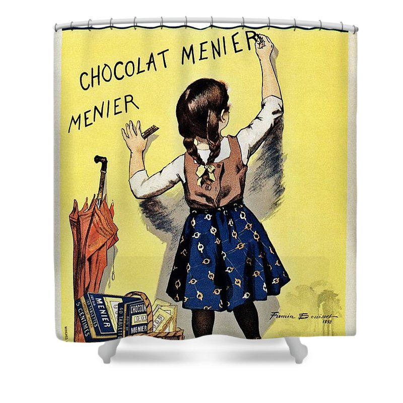 Chocolat Menier Vintage-Style French Chocolate Ad by Firmin Bouisset Poster
