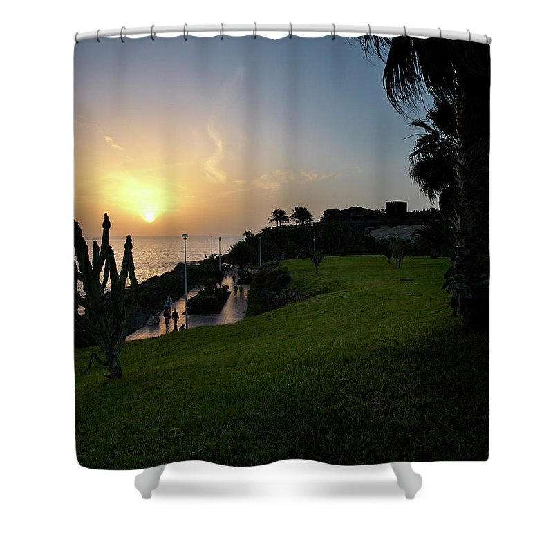 Fanabe Shower Curtain featuring the photograph Fanabe Evening 1 by Jouko Lehto