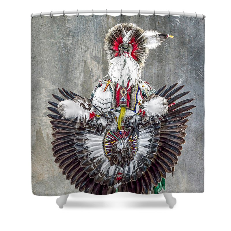 Indian Shower Curtain featuring the photograph Fancy Dancer by James Taylor