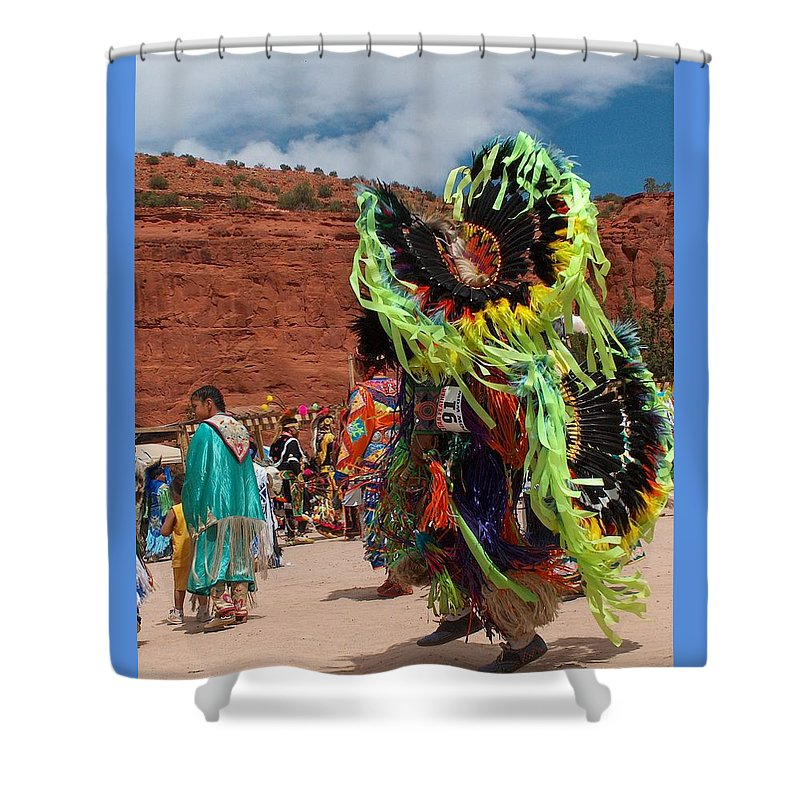Fancy Dancer Shower Curtain featuring the photograph Fancy Dancer by Tim McCarthy