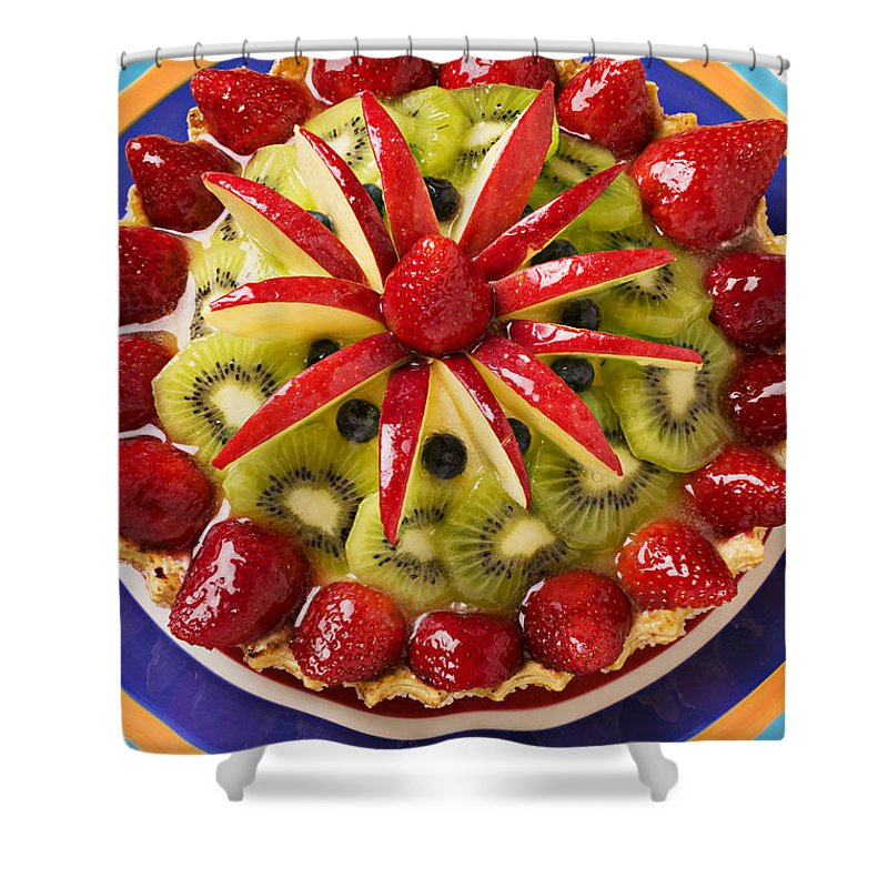 Fruit Shower Curtain featuring the photograph Fancy Tart Pie by Garry Gay