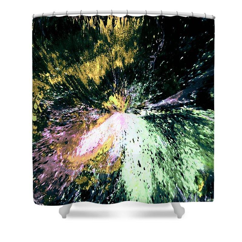 Digital Art Shower Curtain featuring the digital art Fanfare by Kendall Eutemey