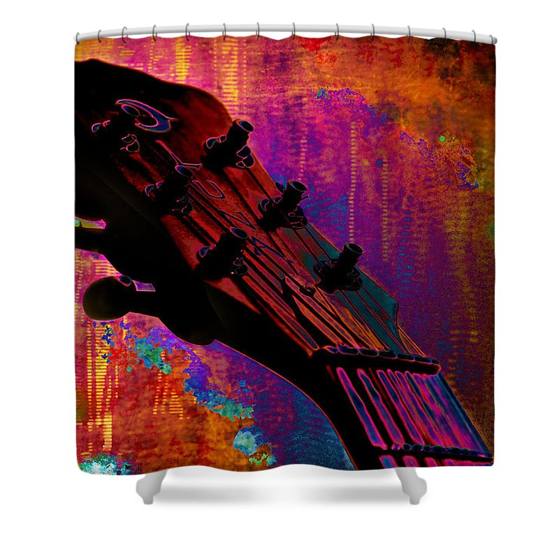 Fantasia Shower Curtain featuring the painting Fantasia by Christopher Gaston