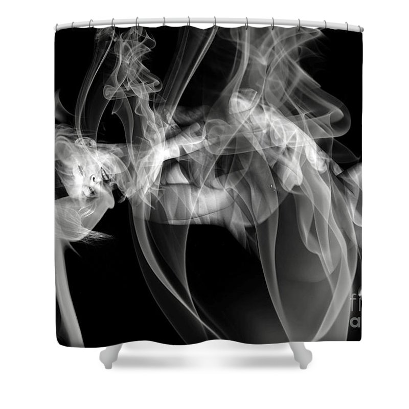 Clay Clayton Bruster Smoke Nude Art Erotic Abstract Beauty Wall Sexy Sensual Shower Curtain featuring the photograph Fantasies In Smoke Iv by Clayton Bruster