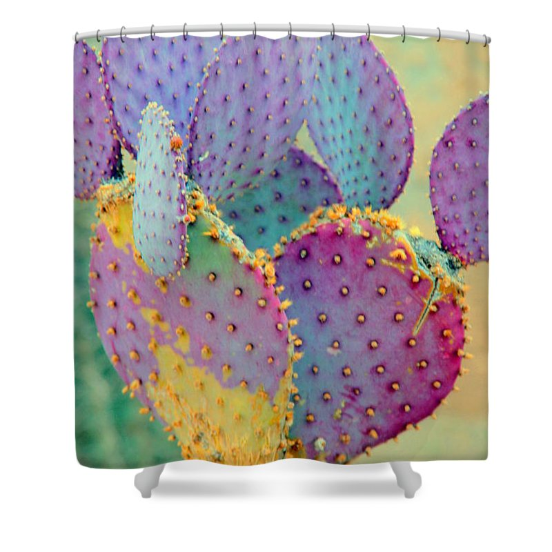 Cactus Shower Curtain featuring the photograph Fantasy Cactus by Susanne Van Hulst