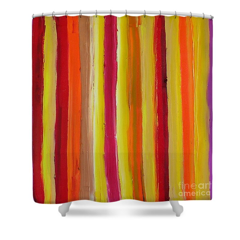 Fantasy Shower Curtain featuring the painting Fantasy by Dawn Hough Sebaugh