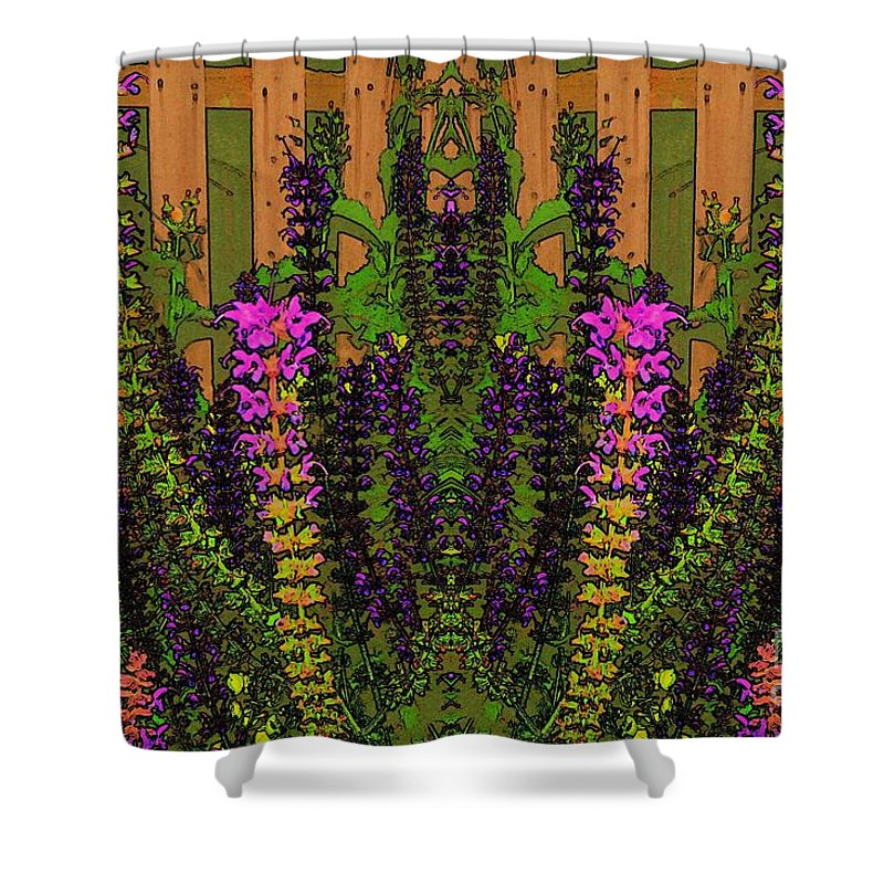 Fantasy Shower Curtain featuring the photograph Fantasy Garden Two by Beverly Shelby