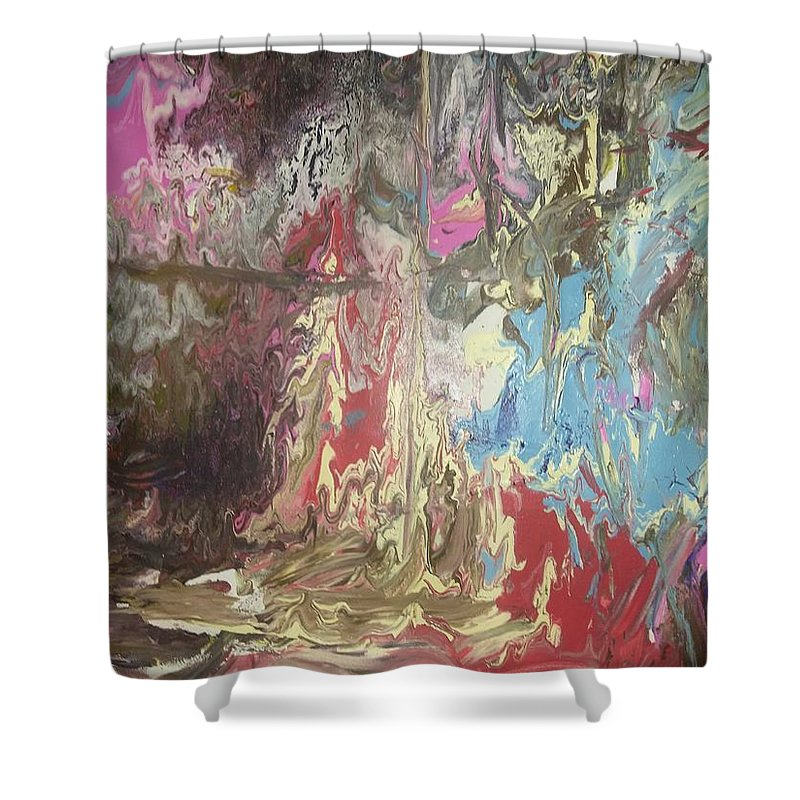 Painting Shower Curtain featuring the painting Fantasy by Joyce A Rogers