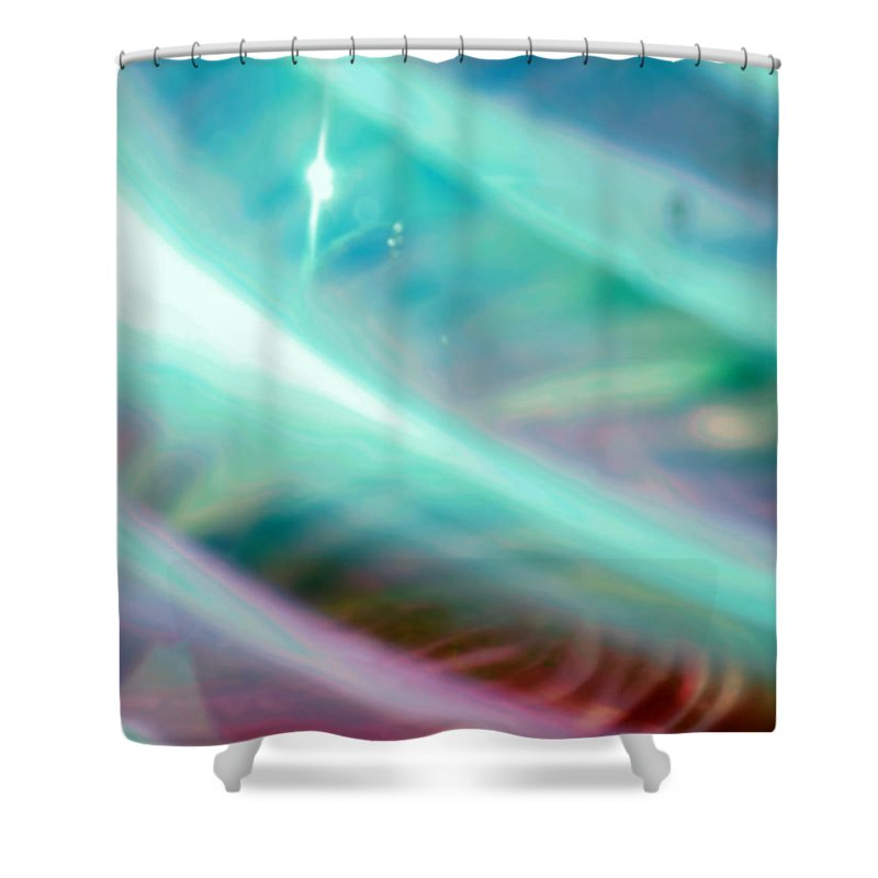 Digital Art Shower Curtain featuring the photograph Fantasy Storm by Scott Wyatt