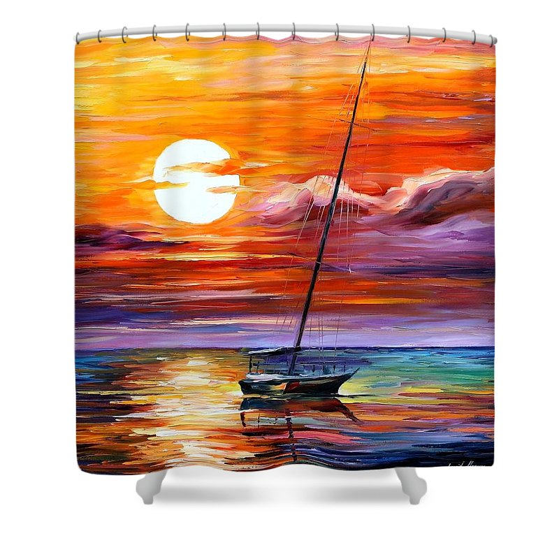 Afremov Shower Curtain featuring the painting Far And Away by Leonid Afremov